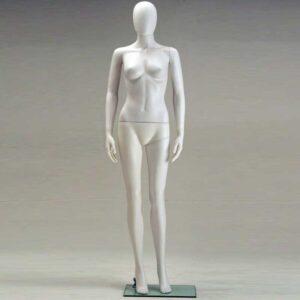Manichino Donna in plastica bianco SFH6