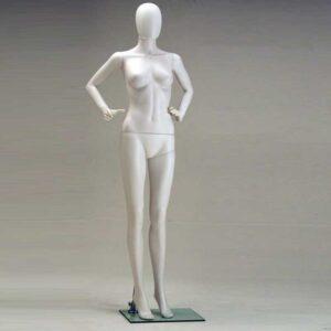 Manichino Donna in plastica bianco SFH7