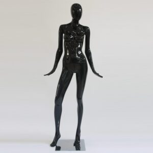 Manichino donna in resina nero lucido ALIX-12-NE