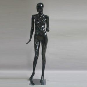 Manichino donna in resina nero lucido ALIX-14-NE