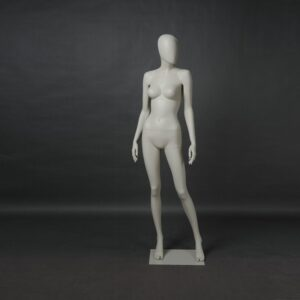 Manichino donna in resina bianco opaco ALIX-11-MI