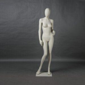 Manichino donna in resina bianco opaco ALIX-14-MI