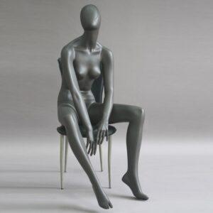 Manichino donna in resina antracite opaco ALIX-18-MG