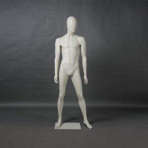 Manichino uomo in resina bianco opaco MEX-14-MI