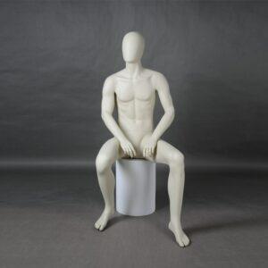 Manichino uomo in resina bianco opaco MEX-15-MI