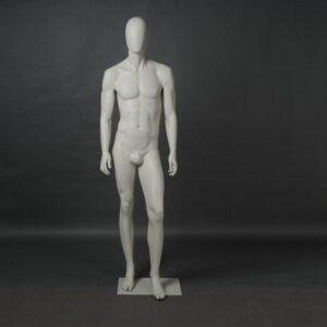 Manichino uomo in resina bianco opaco MEX-20-MI