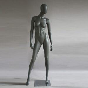 Manichino donna in resina antracite opaco PRO D 05