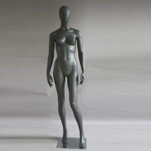 Manichino donna in resina antracite opaco PRO D 06