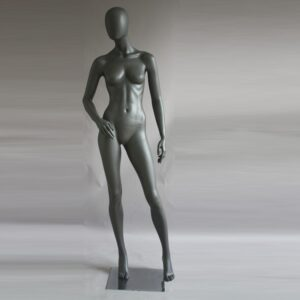 Manichino donna in resina antracite opaco PRO D 07
