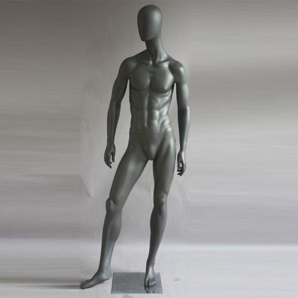 Manichino uomo in resina antracite opaco PRO U 01
