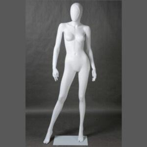 Manichino donna in resina bianco opaco ALIX-10-MI